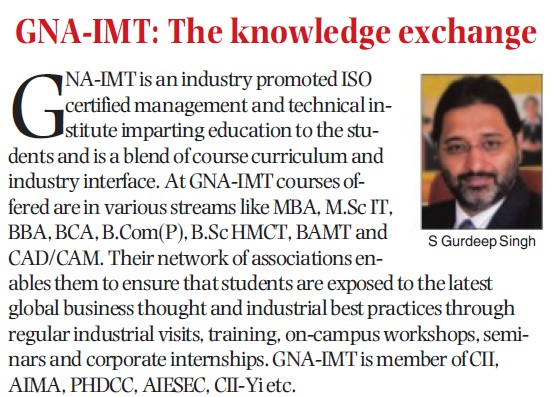 Message of S Gurdeep Singh (GNA Institute of Management and Technology)