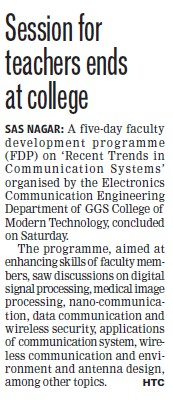 Session for teachers ends at college (GGS College of Modern Technology)