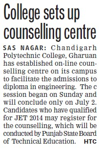 College sets up counselling centre (Chandigarh Polytechnic College)