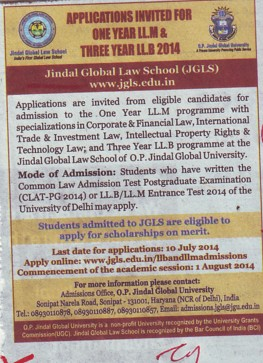 LLM Programme (Jindal Global Law School (JGLS))