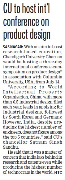 International conference on Product design (Chandigarh University)