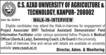 Project Associate and Field Information Facilitator (Chandra Shekhar Azad University of Agriculture and Technology (CSAUK))