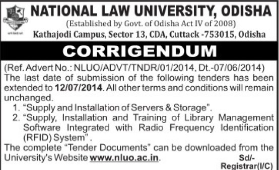 Supply of servers and storage (National Law University)