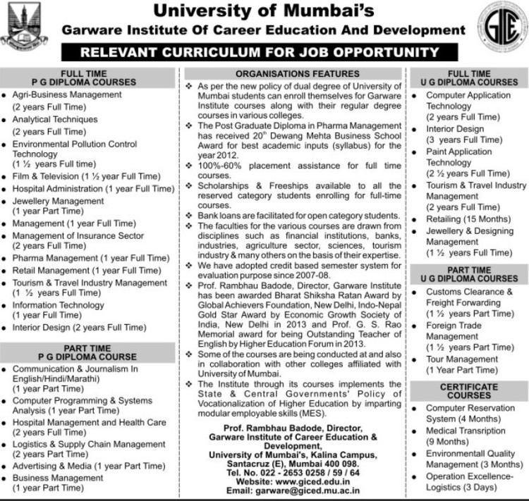 PGD in Agri Business Management (University of Mumbai (UoM))