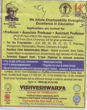 Associate Professor for PhD and Civil Engineering (Vishveshwarya Group of Institutions (VGI))