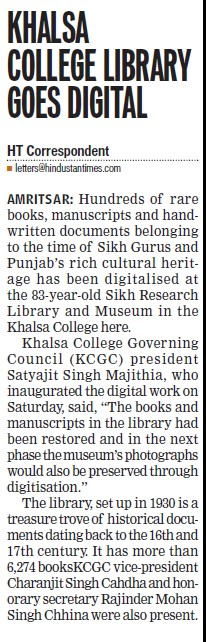 Khalsa College library goes digital (Khalsa College)