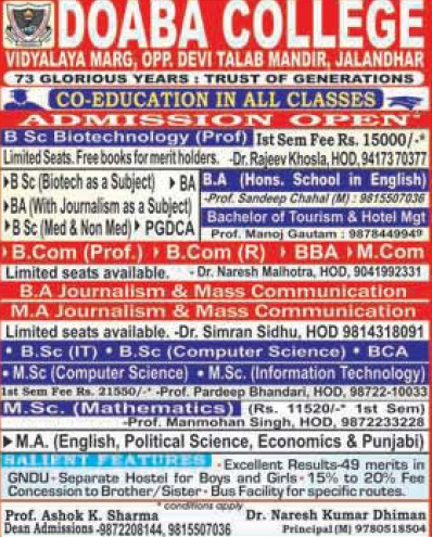 BSc in Biotechnology (Doaba College)