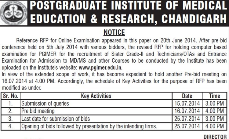 MD and MS course (Post-Graduate Institute of Medical Education and Research (PGIMER))