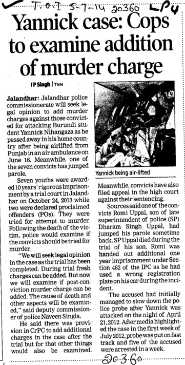 Cops to examine addition of murder charge (Lovely Professional University LPU)