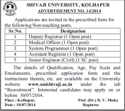 Deputy Registrar (Shivaji University)
