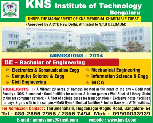 BE in ECE and ME (KNS Institute of Technology)