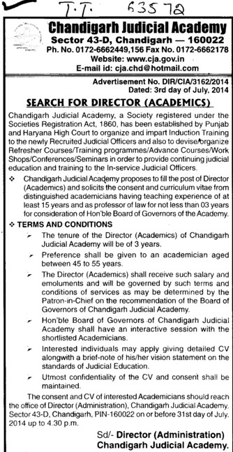 Director (Chandigarh Judicial Academy)