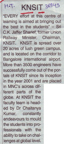 Profile of KNSIT (KNS Institute of Technology)