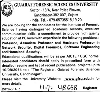 Digital Forensics and Homeland Security (Gujarat Forensic Sciences University)