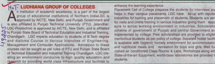 Profile of Ludhiana group of college (Ludhiana Group of Colleges (LGC) Chowkimann)