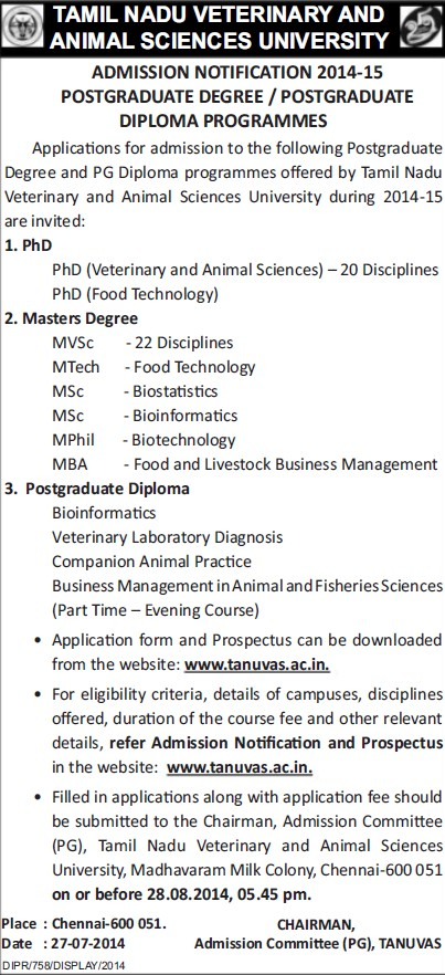 PhD in Food Technology (Tamil Nadu Veterinary and Animal Sciences University, MADRAS VETERINARY COLLEGE)