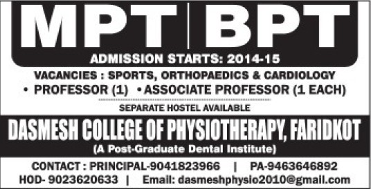 BPT and MPT (Dashmesh College of Physiotherapy)