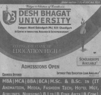MBA, MCA and MSc (Desh Bhagat University)