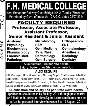 Senior Resident in Anatomy (FH Medical College and Hospital)