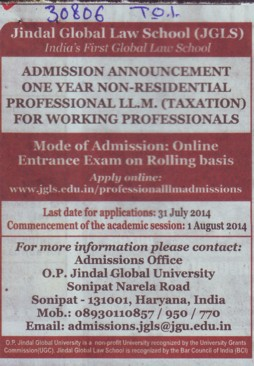 LLM Course (Jindal Global Law School (JGLS))