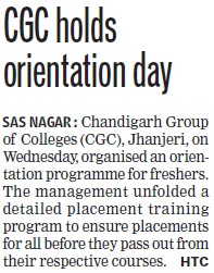 CGC holds orientation day (Chandigarh Group of Colleges)