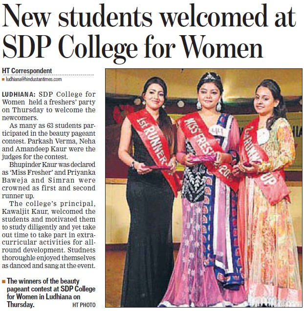 New students welcomed (SDP College for Women)