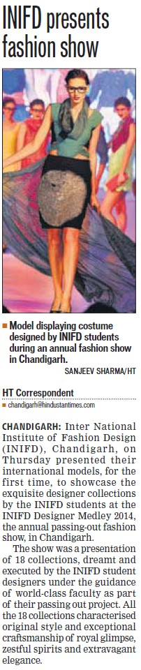 INIFD presents fashion show (INIFD)