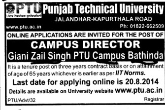 Campus Director (Giani Zail Singh College of Engineering and Technology GZCET)