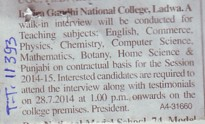 Faculty for Botany and Chemistry (Indira Gandhi National College)