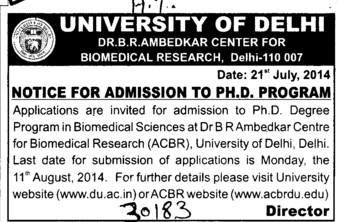 PhD Programme (Delhi University)