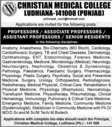 Senior Resident (Christian Medical College and Hospital (CMC))