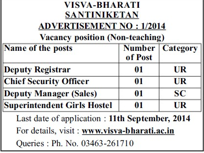Deputy Registrar and Chief Security Officer (Visva Bharati University)