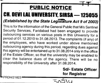 Security Services (Chaudhary Devi Lal University CDLU)