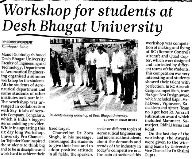 Workshop for Students at DBU (Desh Bhagat University)