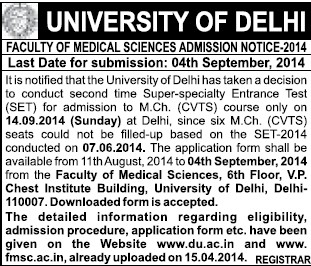 M Ch course (Delhi University)