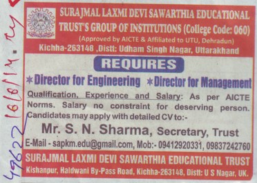 Director and Engineering (Surajmal Laxmi Devi Sawarthia)