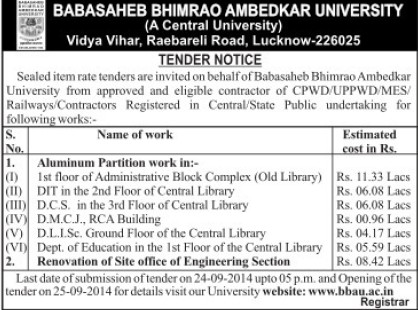 Renovation of Site Office (Babasaheb Bhimrao Ambedkar University)