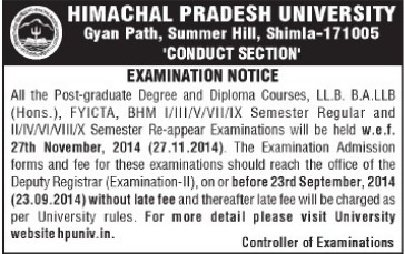 BHM and LLB course (Himachal Pradesh University)