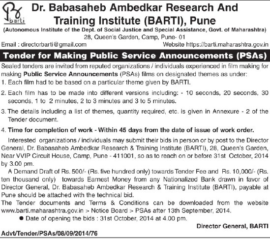 Making Public Service Announcements (Dr Babasaheb Ambedkar Research and Training Institute)