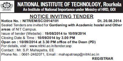Gardening of Academic Hostel (National Institute of Technology (NIT))