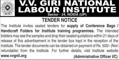 Supply of Conference bags (VV Giri National Labour Institute (VVGNLI))