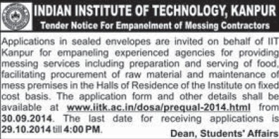 Procurement of raw materials (Indian Institute of Technology (IITK))