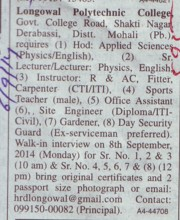 Lecturer and Instructor (Longowal College of Pharmacy and Polytechnic)