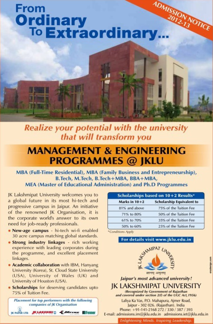Management and Engineering Program (JK Lakshmipat University)