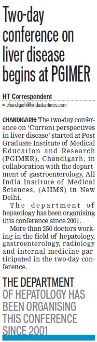 Conference on Liver disease (Post-Graduate Institute of Medical Education and Research (PGIMER))