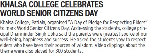World citizen day celebrated (Khalsa College)