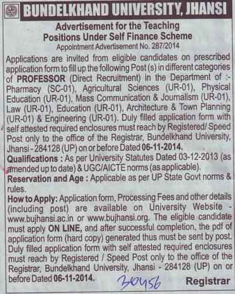Professor for Physical Education (Bundelkhand University)