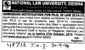 PhD in law (National Law University)