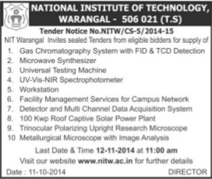 Supply of Microwave Synthesizer (National Institute of Technology NIT)