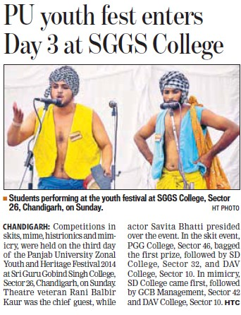 Youth Fest held (SGGS Khalsa College Sector 26)